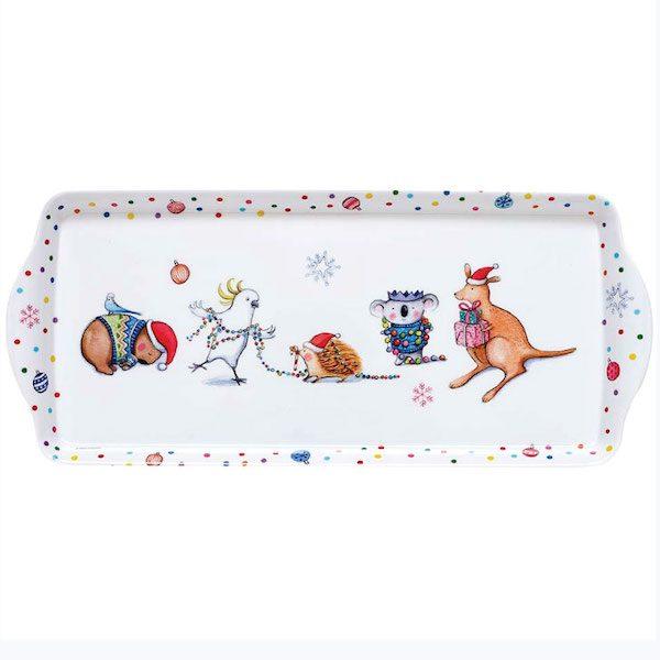 Barney Christmas Sandwich Tray