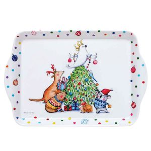 Barney Christmas Scatter Tray