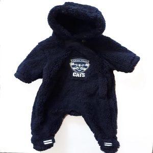 AFL Geelong Faux Fur Baby Jumpsuit