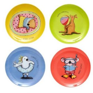Summer With Barney Assorted Plate Set
