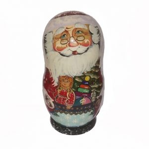 Santa Korobnik With Decorations 16cm