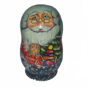 Santa Korobnik With Decorations 12cm