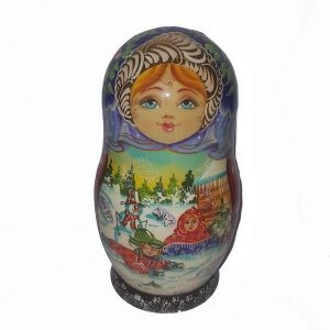 Girl Korobnik With Decorations 16cm
