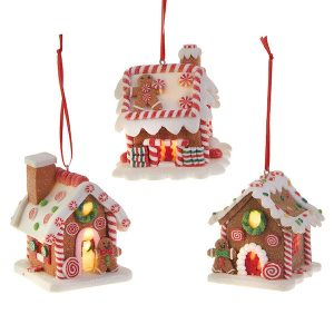 Lighted Gingerbread House Led Ornament