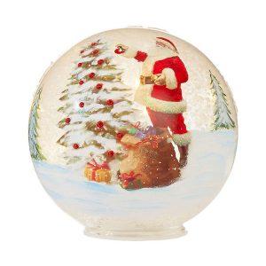 """Santa Lighted Ball 6"""""""