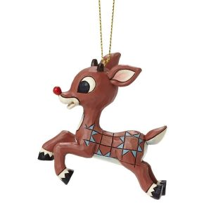 Jim Shore Flying Rudolph Hanging Ornament