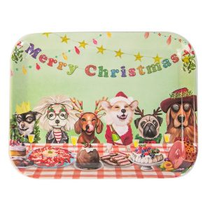 Canine Christmas Tray