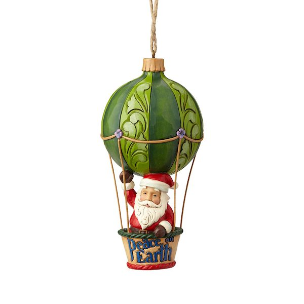 Jim Shore Santa In Hot Air Balloon Ornament