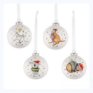 Barney Christmas Baubles 4 Pack