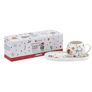 Christmas Mug And Tray Set Charles Cockatoo