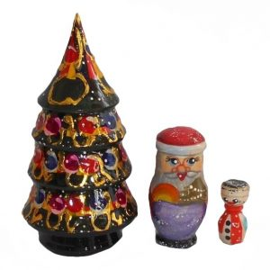 Christmas Tree 3 Piece Babushka Doll