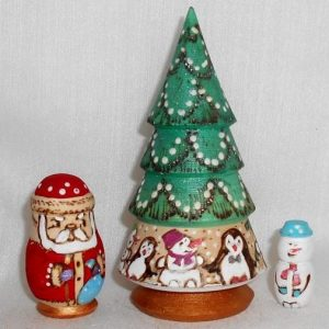 Christmas Tree 3 Piece Babushka Woody