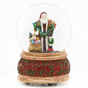 Musical Santa With Toys Christmas Glitterdome 100mm