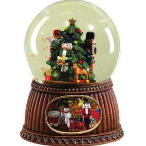 Musical Nutcracker Christmas Glitterdome 100mm