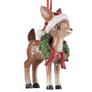 Vintage Deer Hanging Ornament Standing