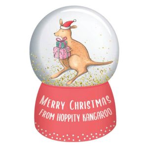 Barney Christmas Snowglobe Hoppity Kangaroo