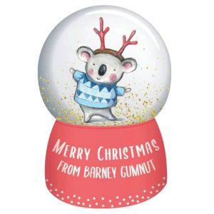 Barney Christmas Snowglobe Barney Gumnut
