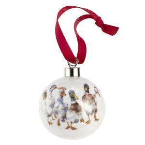 Wrendale All Wrapped Up Ducks Christmas Bauble