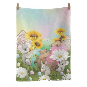 Garden Of Giant Treats Tea Towel