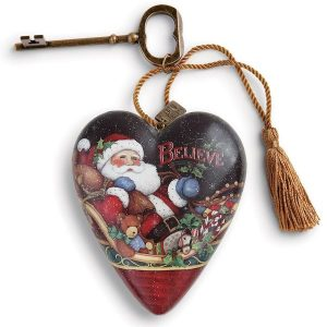 Art Hearts Believe Santa