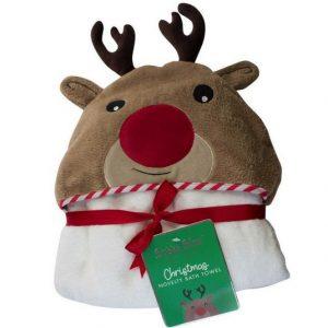 Christmas Reindeer Novelty Bath Towel