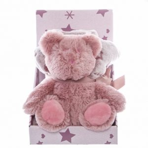 Audrey Teddy Bear Gift Pack Dusy Pink