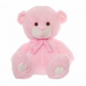 Buddy Teddy Bear With Scarf Baby Pink