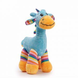 Gabby Giraffe Bright Striped Blue