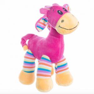 Gabby Giraffe Bright Striped Hot Pink