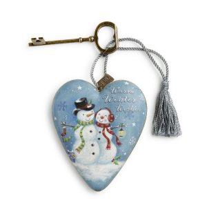Art Hearts Christmas Snow Couple