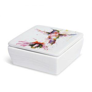 Dean Crouser Hummingbird Lidded Vanity Box