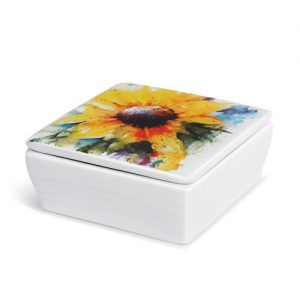 Dean Crouser Sunflower Lidded Vanity Box