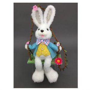 Mr White Rabbit Swinging