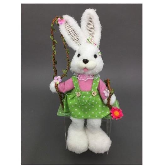 Mrs White Rabbit Swinging