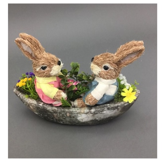 Sailing Rabbits Easter Ornament