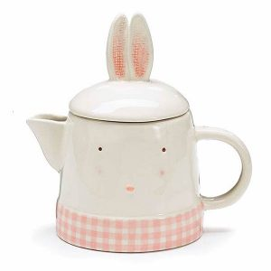 Springtime Bunny Ceramic Teapot