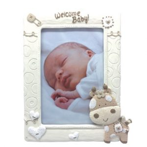 Giraffe Series Welcome Baby Photo Frame