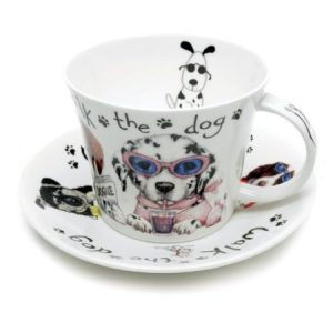 Roy Kirkham Animal Fashion Dogs Cup And Saucer