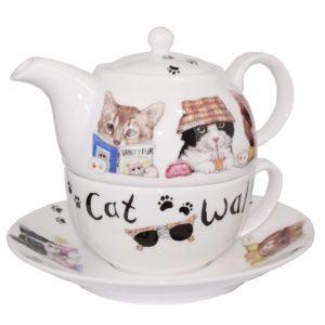 Roy Kirkham Animal Fashion Cat Tea for One Teapot