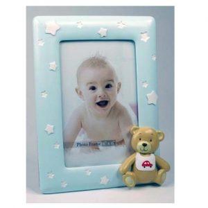Teddy Baby Boy Photo Frame 4 x 6