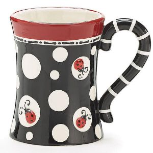 Lady Bug Dots Mug