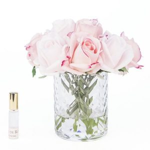 Côte Noire Herringbone Flower Mixed Pink Rose Buds