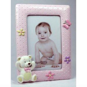 Teddy Baby Girl Photo Frame 4 x 6