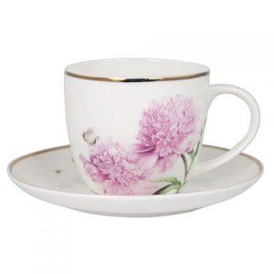 Ashdene Pink Peonies Cup & Saucer