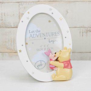 Disney Pooh & Piglet Round Resin Frame