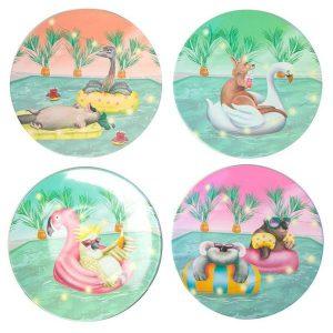 Floating Fuzzies Plate Set