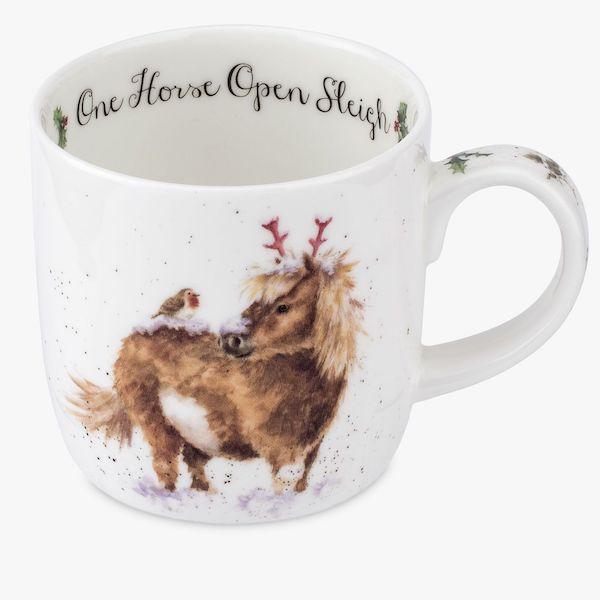 Wrendale Christmas Shetland Pony Mug