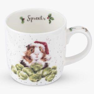 Wrendale Christmas Guinea Pig Mug