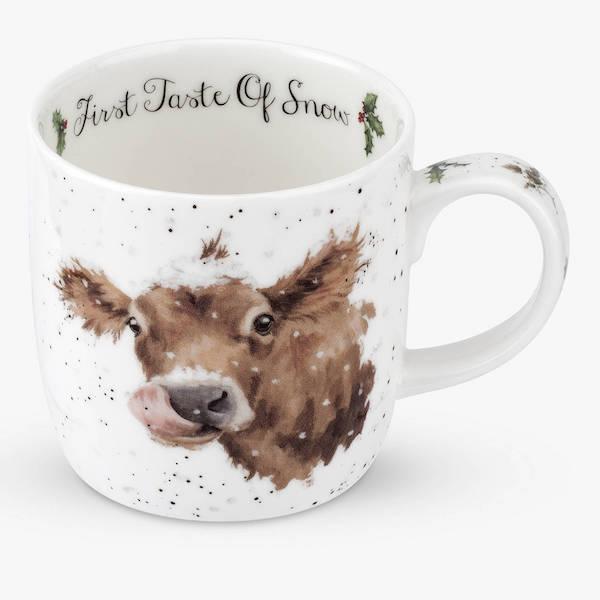 Wrendale Christmas First Taste Of Snow Mug