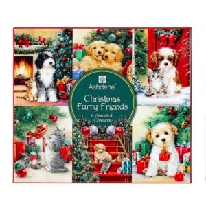 Ashdene Christmas Furry Friends Coasters